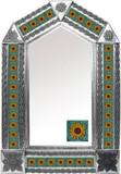 tin mirror with mexican Rustica House tiles