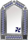 tin mirror with Mexican tiles