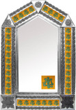 tin mirror with mexican colonial tiles