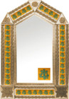 tin mirror with copper frame with mexican colonial tile