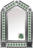 tin mirror with mexican traditional tiles