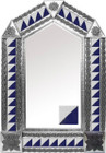 tin mirror with mexican classic colonial tiles
