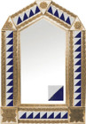 tin mirror with copper frame with mexican classic colonial tile