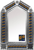 tin mirror with mexican Guanajuato tiles