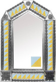 tin mirror with mexican colonial hacienda tiles