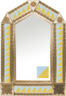 tin mirror with copper frame with mexican colonial hacienda tile