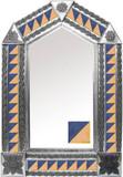 tin mirror with modern tiles