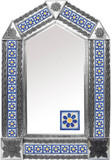 tin mirror with fabricated tiles