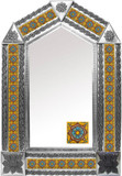 tin mirror with produced tiles