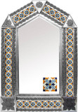tin mirror with created tiles