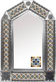 tin mirror with created tiles