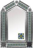 tin mirror with artisan made tiles