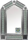 tin mirror with old world tiles