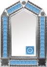 tin mirror with classic colonial tiles