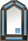 tin mirror with coffee arch frame and classic colonial tile
