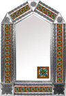 tin mirror with Guanajuato tiles