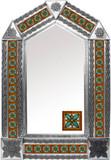 tin mirror with Guanajuato tiles