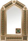 tin mirror with copper frame and Guanajuato tile