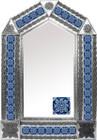 tin mirror with colonial hacienda tiles