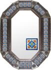 old metal tin mirror handcrafed