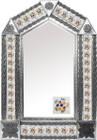 tin mirror with Spanish tiles