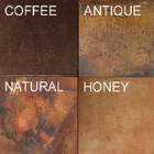 square copper table-top patina finish