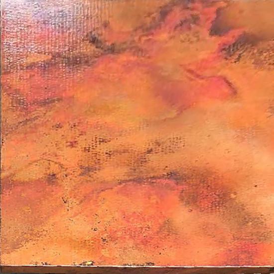 square copper table-top