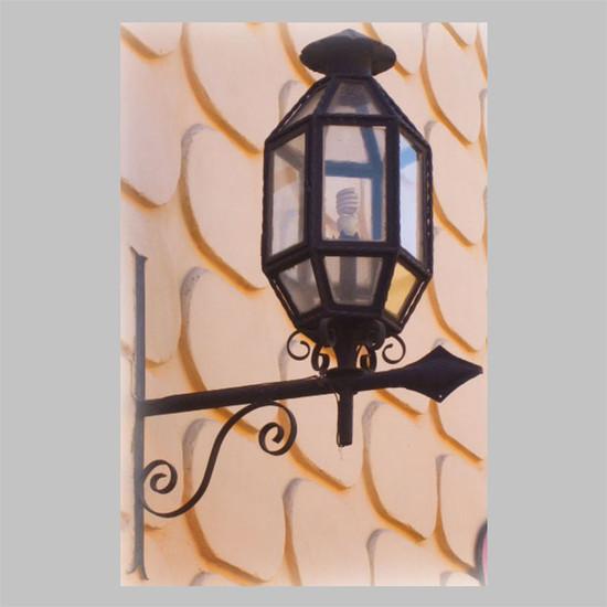 decorative outdoor wall iron lantern