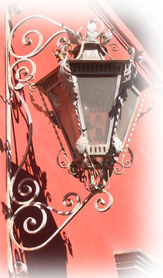 mexican outdoor wall iron lantern