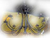 living room iron chandelier