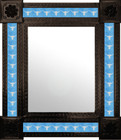 southeastern mexican mirror decorated with tiles