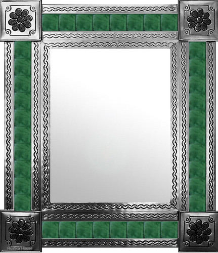 mexican mirror with traditional tiles