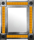 mexican wall mirror with manufactured tiles