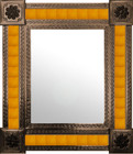 mexican wall mirror manufactured frame