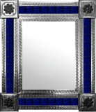mexican wall mirror with fabricated tiles