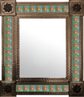 mexican wall mirror produced frame
