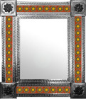 mexican wall mirror with created tiles