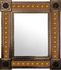 mexican wall mirror created frame