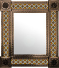 mexican wall mirror handcrafted frame