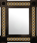 handcrafted mexican wall mirror with tiles