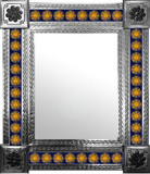 mexican wall mirror with individually made tiles
