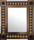 mexican wall mirror individually made frame