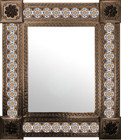 mexican wall mirror hand punched frame