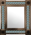 mexican wall mirror San Miguel frame