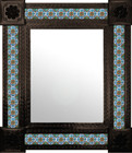San Miguel mexican wall mirror with tiles