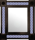 colonial mexican wall mirror with tiles