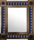 mexican wall mirror rustic frame