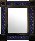 rustic mexican wall mirror with tiles