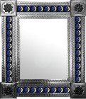 mexican wall mirror with conventional tiles