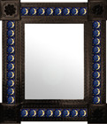mexican conventional wall mirror with tiles